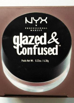 Блеск для глаз nyx glazed & confused get naked