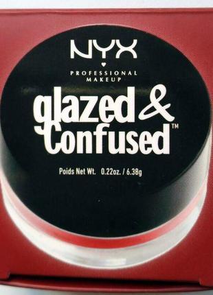 Тени для глаз с влажным эффектом nyx glazed & confused eye gloss в оттенке bad blood