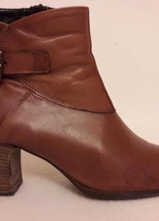 Натуральные кожаные деми ботинки фирмы roberto santi p. 39 стелька 25,5 см