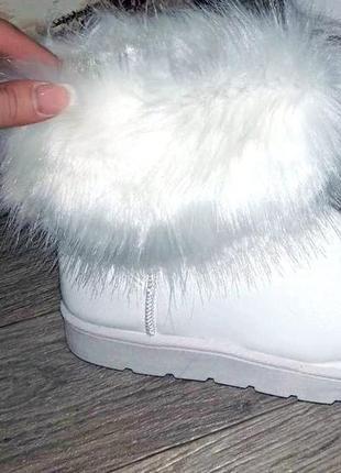 Белые угги экокожа с белой опушкой ❤. 35.36.37.38.39.40.
