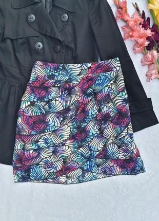 Шифоновая разноцветная юбка