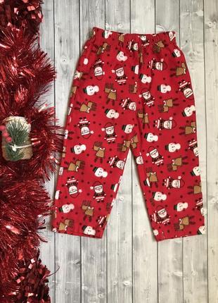 Уютные байковые пижамные / домашние штанишки primark 24-36 мес