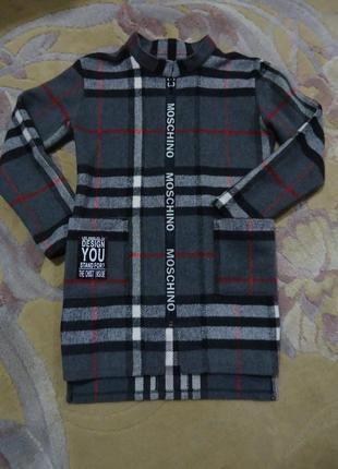 Демисезонное пальто moschino (весна-осень) для девочки 11-12 лет (146-152см)