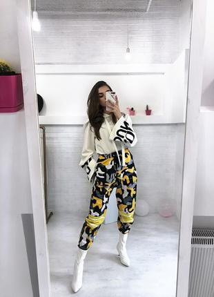 Стильні воєнні брюки м джогери джоггеры штаны женские хайп спортивные брюки