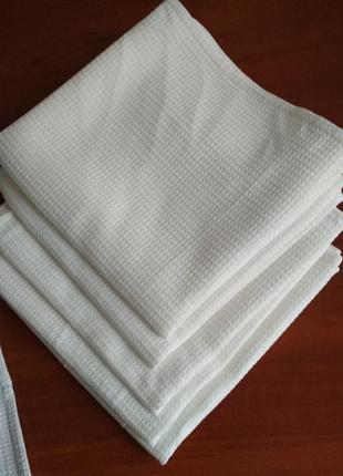 Вафельні рушники білі