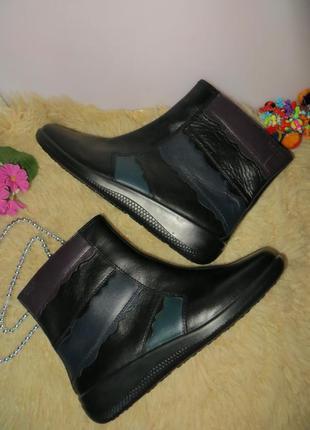 Комфортные кожаные полусапожки hotter comfort concept.