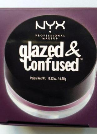 Блеск для глаз, тени для век nyx glazed & confused в оттенке dirty talk
