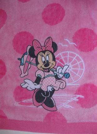 Супермягкое махровое полотенце минни маус дисней оригинал