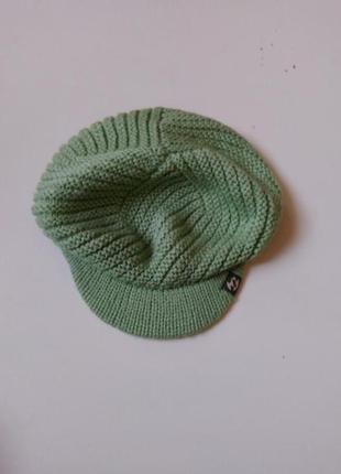 Вязаная кепка цвета  мяты