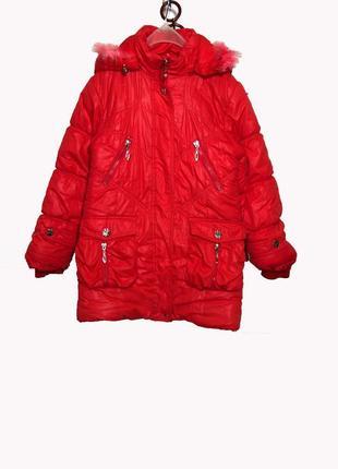 Зимний пуховик пальто куртка, очень теплый на 6-8 лет