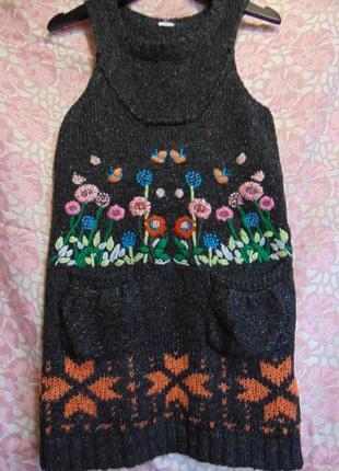 Вязаное платье, сарафан desigual.