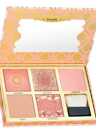 Палетка benefit cosmetics blush bar cheek palette хайлайтер,румяна, бронзатор