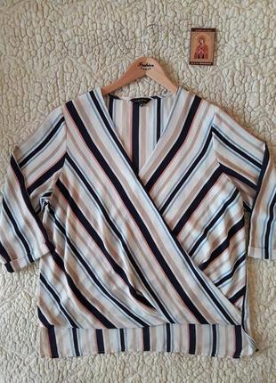 Симпатичная блуза в полосочку, размер л-хл