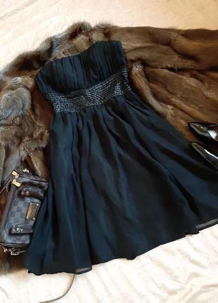 Вечернее платье -бюстье деkорированое бисером на талии от vero moda