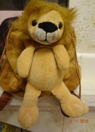 Стильный детский рюкзачек  лев