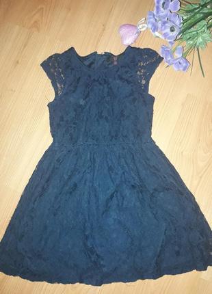 Платье гипюровое школьное 7-8 лет