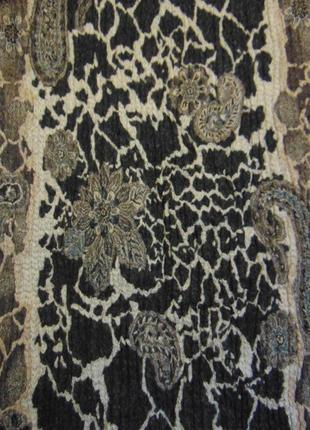 Широкий шарф, палантин madeleine, шерсть + шелк.