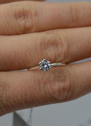 Серебряное кольцо, модель #помолвочное 16р-р
