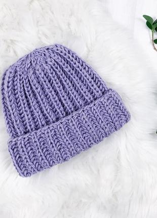 Тепленькі в'язані шапулі з шерстю альпаки \ теплые вязаные шапки с шерстью альпаки