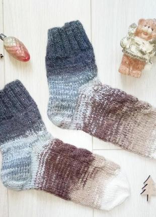 Теплые вязаные носки из шерсти