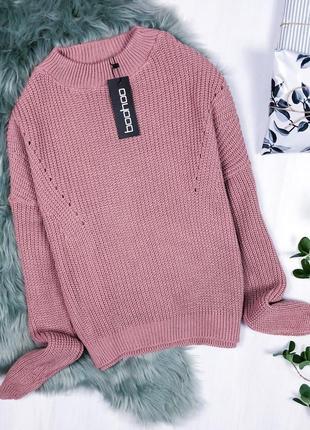 Крутий оверсайз светрик \ крутой пудровый оверсайз свитер boohoo