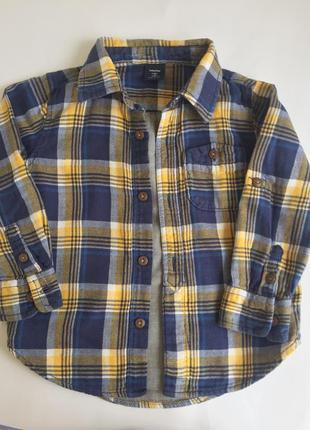 """Теплая рубашка """"baby gap"""", оригинал сша"""
