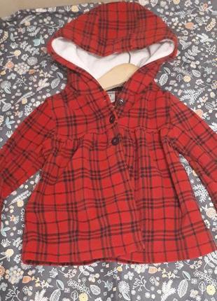 Флисовое легкое пальто  carter's. размер 24