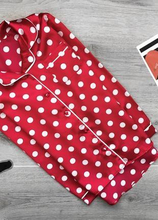 Актуальная рубашка/пижама для сна в горошек xs/s