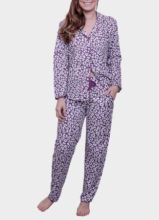 38-40р. пятнистая трикотажная пижама, вискоза- love to lounge