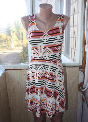 Платье сарафан в орнаментах