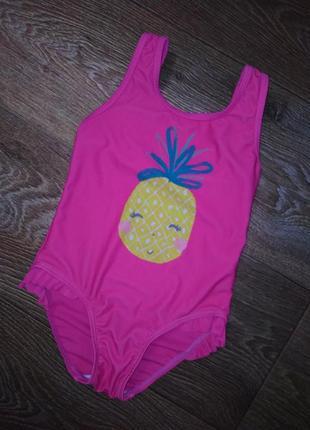 Яркий ананас! детский сдельный купальник на девочку 3-4 года
