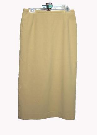 Классическая бежевая юбка-карандаш, миди uk12