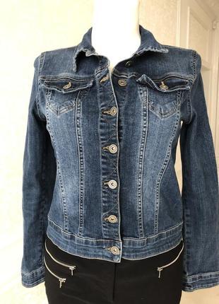 Куртка , джинсовка синяя , размер s, m