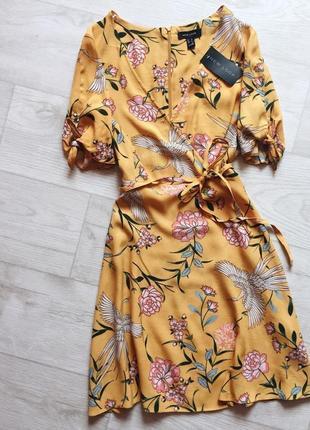 Платье в цветы new look