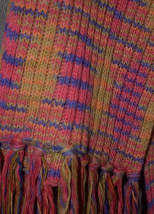 Красивый яркий тёплый шарф  blue motion4