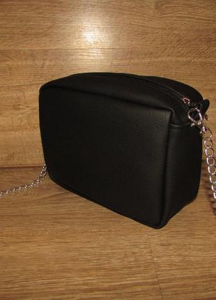 Невероятно стильная шикарная женская сумочка черного цвета
