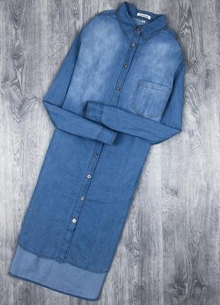 Сукня-сорочка/ платье-рубашка джинсова