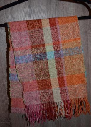 Яркий тёплый шерстяной шарф  made in germany2 фото