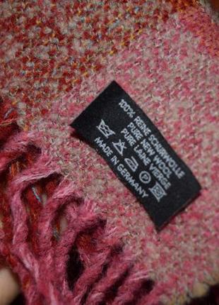 Яркий тёплый шерстяной шарф  made in germany4 фото