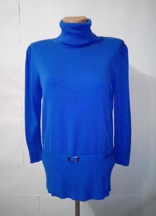Синяя нарядная вискозная кофта от wallis uk 14 / 42 / l