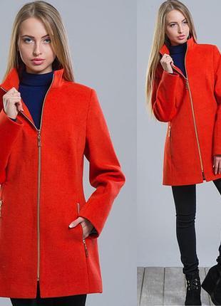 Кашемировое пальто женское демисезонное ассортимент рр. 42-50