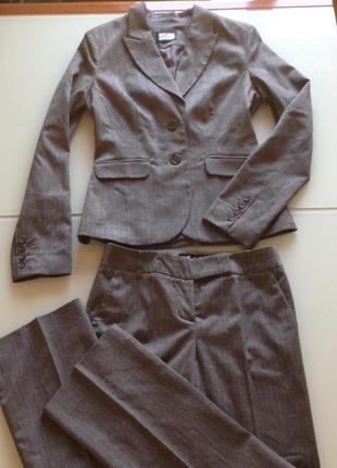 Костюм брючный clockhouse италия шерсть новая коллекция будьте стильными!