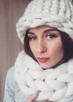 Новый шарф крупной вязки хельсинки