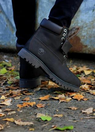 Ботинки timberland brown (темно-коричневый). топ качество!