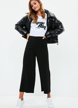 Стильные черные брюки-кюлоты uk14