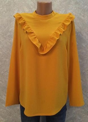 Блуза с рюшами размер 12-14 new look