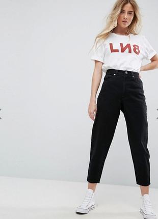 Мом джинсы на высокой посадке джинси брюки штаны