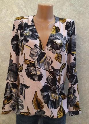 Блуза на запах в цветы warehouse
