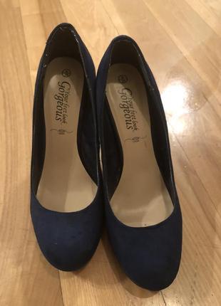 Синие туфли new look