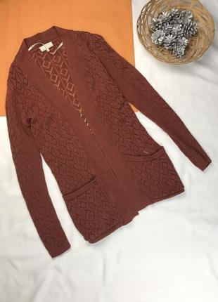 Джемпер тёплая кофта кардиган короткий кофта с карманами